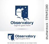 observatory logo template... | Shutterstock .eps vector #559692280