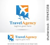 travel agency logo template... | Shutterstock .eps vector #559692358