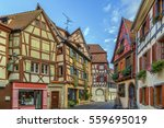 historical street in colmar...   Shutterstock . vector #559695019