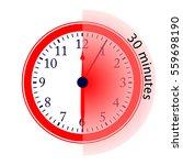 clock 30 minutes to go vector... | Shutterstock .eps vector #559698190