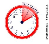 clock 10 minutes to go vector... | Shutterstock .eps vector #559698316