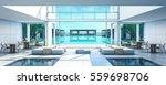 3d rendering beach villa lobby... | Shutterstock . vector #559698706