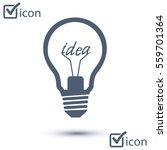 light lamp sign icon. idea... | Shutterstock .eps vector #559701364