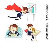 illustration happy business... | Shutterstock . vector #559703800