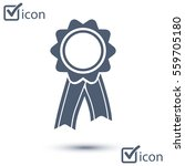 badge with ribbons icon. award ... | Shutterstock .eps vector #559705180
