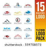 real estate logo pack. 15 set... | Shutterstock .eps vector #559708573
