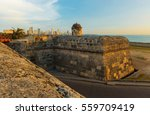 the san felipe fortress and the ... | Shutterstock . vector #559709419