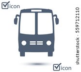 bus icon. schoolbus symbol.... | Shutterstock .eps vector #559712110