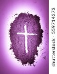 cross made in ashes  ash...   Shutterstock . vector #559714273