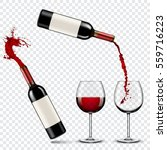 red wine | Shutterstock .eps vector #559716223