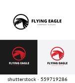 flying eagle logo. animal logo... | Shutterstock .eps vector #559719286
