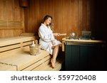 Beautiful Woman In Sauna...