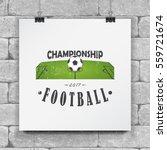 soccer football club. sport... | Shutterstock .eps vector #559721674