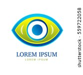 abstract eco logo with eye icon   Shutterstock . vector #559722058