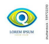 abstract eco logo with eye icon | Shutterstock . vector #559722250
