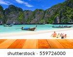 Wood Plank On Maya Bay  Phi Ph...