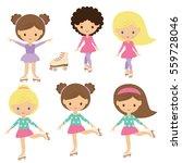 roller skating girl vector... | Shutterstock .eps vector #559728046