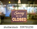 sorry sign hang on mirror of... | Shutterstock . vector #559731250