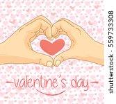 valentines day   romantic...   Shutterstock .eps vector #559733308