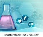 medical research background. 3d ... | Shutterstock . vector #559733629