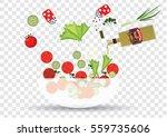 salad cooking | Shutterstock .eps vector #559735606