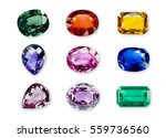 Bright Gems Isolated On A Whit...