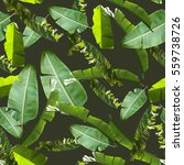 Tropical Floral Leaves Seamless Pattern - Fine Art prints