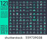 mega set and big group  real... | Shutterstock .eps vector #559739038