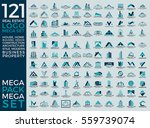 mega set and big group  real... | Shutterstock .eps vector #559739074