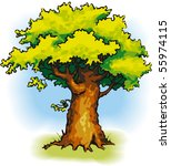 vector picture. oak with a... | Shutterstock .eps vector #55974115