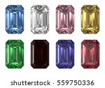 set of eight various color... | Shutterstock . vector #559750336