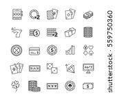 outline vector icons set  ... | Shutterstock .eps vector #559750360