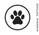 animal paw icon