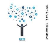 cloud computing design concept... | Shutterstock .eps vector #559752208