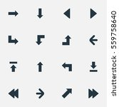 set of 16 simple pointer icons. ... | Shutterstock .eps vector #559758640