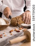 a male chef's hand present and... | Shutterstock . vector #559759303