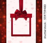 red banner with red ribbon and... | Shutterstock .eps vector #559759480