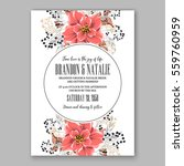wedding invitation floral...   Shutterstock .eps vector #559760959