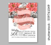 wedding invitation floral... | Shutterstock .eps vector #559761049