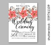 wedding invitation floral... | Shutterstock .eps vector #559761109