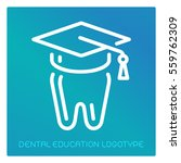 dental education logotype | Shutterstock .eps vector #559762309
