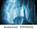 huge ice icicles. large blocks...   Shutterstock . vector #559763533