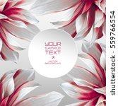 futuristic flower vector... | Shutterstock .eps vector #559766554