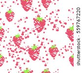 strawberry seamless pattern.... | Shutterstock .eps vector #559767220