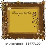 vector invitation card or... | Shutterstock .eps vector #55977100