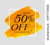 sale up to 50  off sign over... | Shutterstock .eps vector #559773400