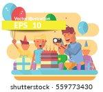 children birthday party vector...   Shutterstock .eps vector #559773430
