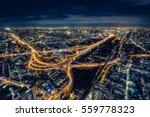 cityscape bangkok downtown at... | Shutterstock . vector #559778323