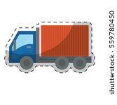cargo or delivery truck icon... | Shutterstock .eps vector #559780450