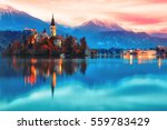 Night Scene Of Bled Lake In...